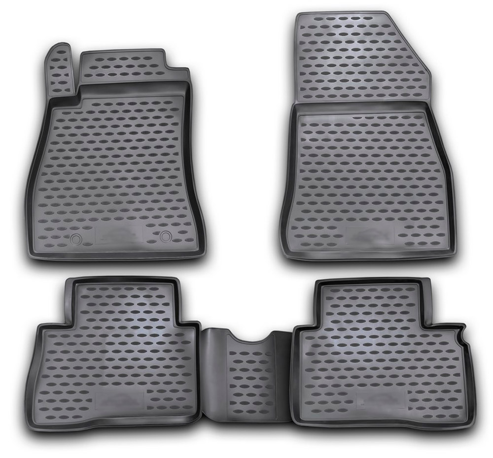 Floor mats case for Nissan Juke 2010-2014- 4 pcs rubber rugs non slip rubber interior car styling accessories