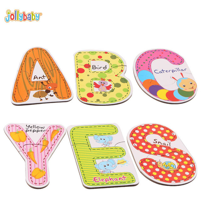 Jollybaby 26PCS Alphabet A To Z letters Paper Creative Cognitive - alphabet card
