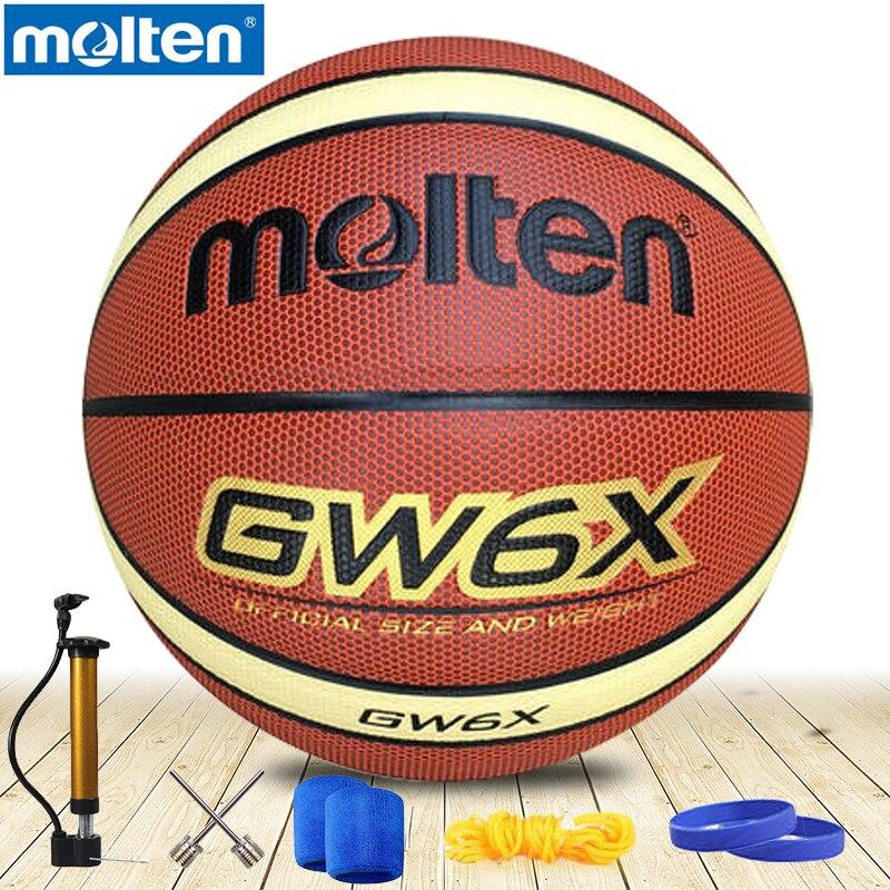 original molten basketball ball GW6x NEW Brand High Quality Genuine Molten PU Material Official Size6 Basketball