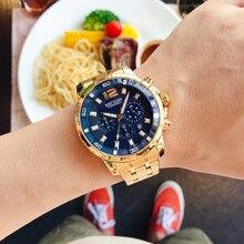 MEGIR Top marka luksusowa moda biznes zegarek kwarcowy na rękę mężczyźni wodoodporny stoper wojskowe zegarki sportowe Relogio Masculino