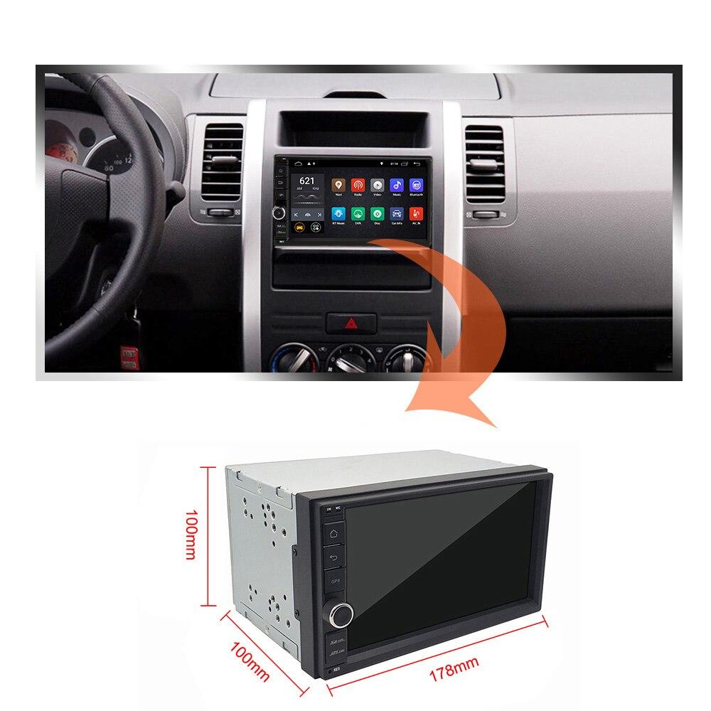 Eunavi universel 2 din Quad core 7 ''Android 8.1 autoradio stéréo lecteur multimédia WIFI 2din GPS Navigation USB SWC TDA7851 - 2