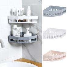 Estante de baño estante de almacenamiento adhesivo soporte de esquina Gel de ducha champú cesta caliente