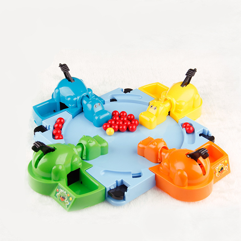 Hungry Hippo Child Educational Toys Gift Feeding Hippo Swallow Beads Table Game Great Fun Family Parent-child Interaction Toys artkal beads c 2 6mm mini beads 36 color box set funny food grade educational toys diy hama beads handmade gift cc36