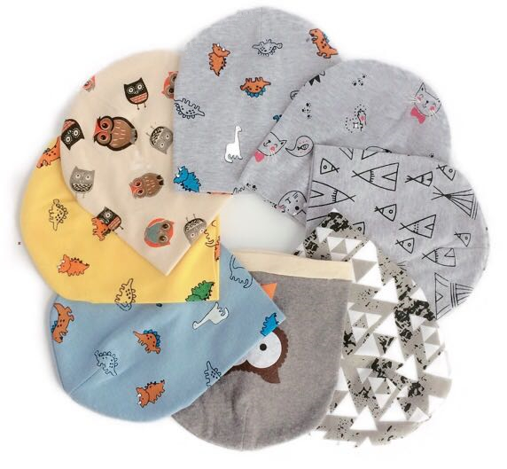 Newborn Baby Cotton Hat Cap Beanie Toddler Infant Hat For New Born Care Photo Props For Girls And Boys Kids Dinosaur 0-2 Years