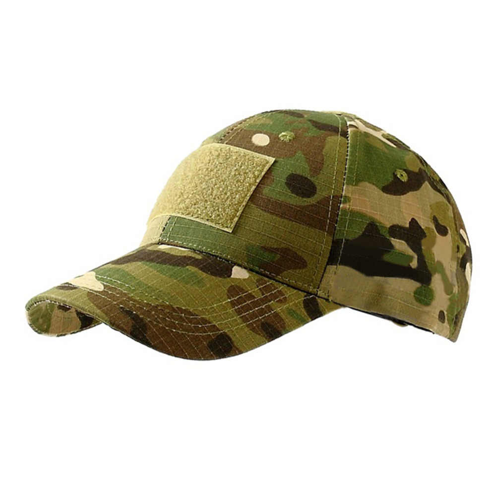 a8ad53f79 1PC Outdoor Sport Tactical Cap Camouflage Hat Simplicity Tactical Military  Army Hat Camo Hunting Cap Snapback Caps For Men