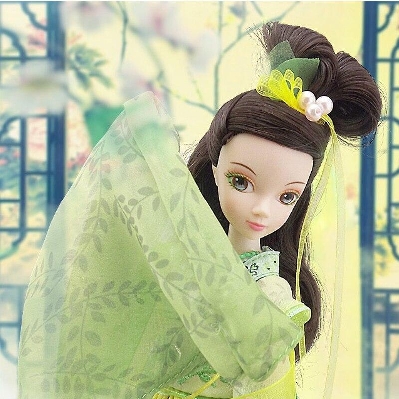D0700 Best children girl gift 30cm Kurhn Chinese Doll dress myth Gift Traditional toy Green tea Fairy in box 1pcs