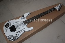 Hardcase New ESP KH-2 OUIJA Limited Edition Kirk Hammett Signature ESP white Electric Guitar(China)