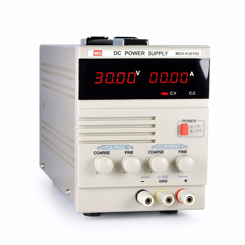 Fast arrival MCH -K3010D DC  power supply 30v10a DC adjustable regulated constant current source electroplating switch cps 6011 60v 11a digital adjustable dc power supply laboratory power supply cps6011