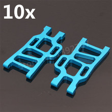 Wholesale 10pcs Lot HSP Upgrade Parts108021 08006 Aluminum Rear Lower Suspension Arm For 1 10 Monster