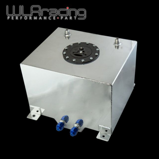 WLR RACING - 30L Aluminium Fuel Surge tank mirror polished Fuel cell foam inside, without sensor WLR-TK67 wlr racing black 20l aluminium fuel surge tank fuel cell with sensor foam inside wlr tk39bk