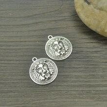 10pcs Charms metal lion,Antique Making pendant fit,Vintage Tibetan Silver,jewelry DIY bracelet necklace 24*21mm 4435A