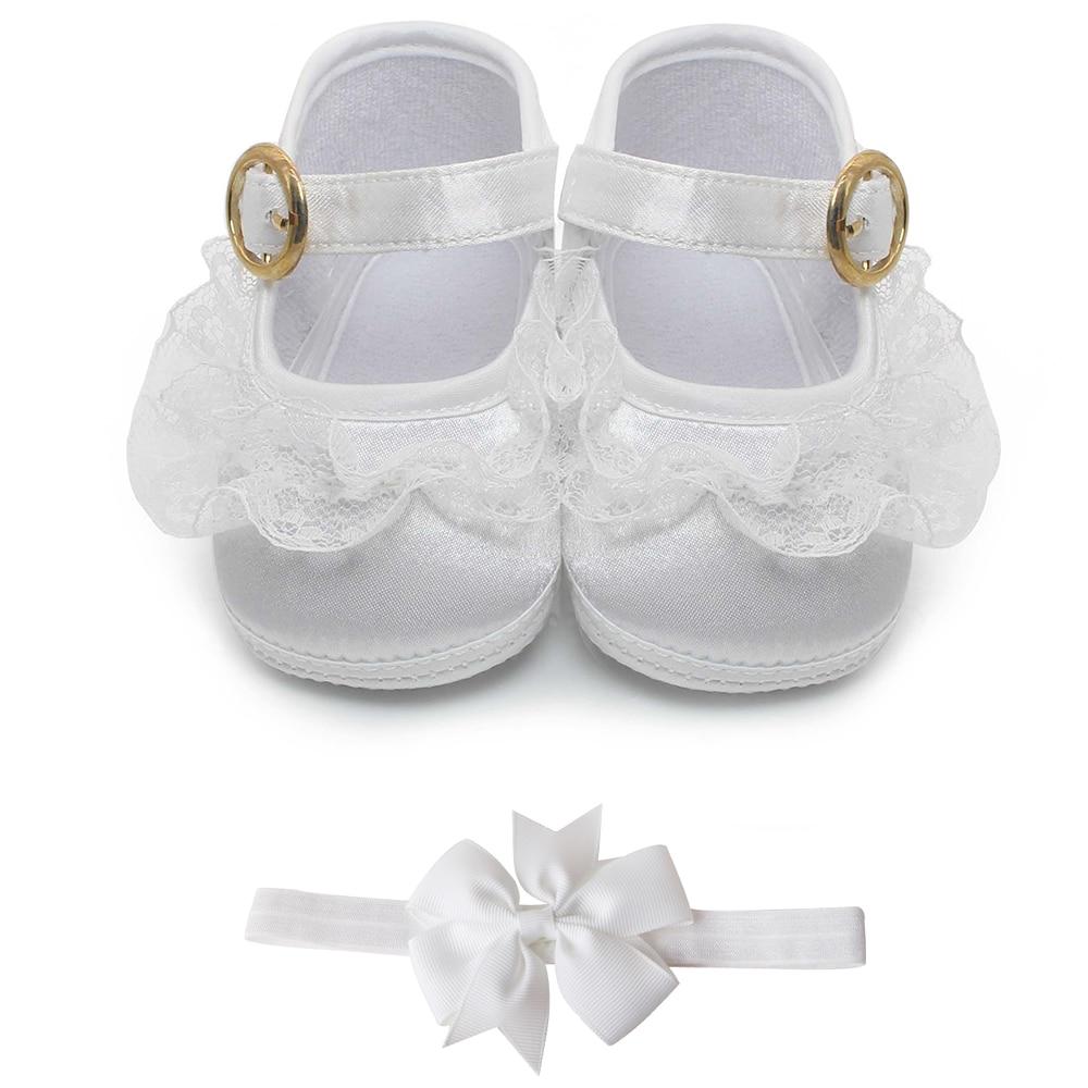 Delebao grynas baltas krikštynų kūdikių batai Kūdikių kūdikių krikšto batai 0-1 metų vaikščiojimo didmenininkams