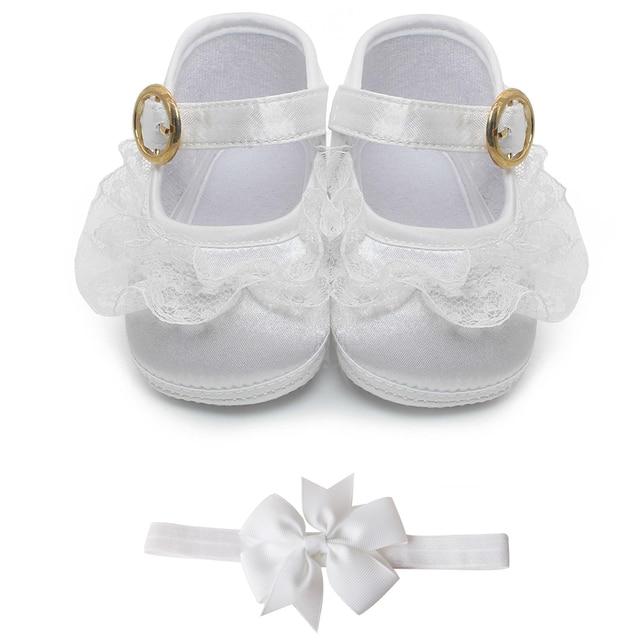 b064d96cf Delebao Puro Blanco bautizo Bebé Zapatos de bebé del niño bautismo zapatos  para 0-1