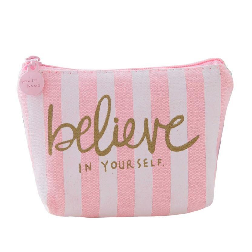 Girls Cute Coin Purse Pink Fashion Print Snacks Coin Purse Kawaii Wallet Canvas Pouch Key Holder Monedero Mujer Para Monedas#212