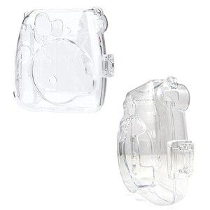 Image 4 - Fujifilm Instax Mini 9 Case przezroczysty kryształ plastikowa obudowa Camera Protect Case torba z paskiem do Fujifilm instax Mini 8/9/8 +