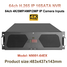 64CH H.265/H.264 Onvif CCTV NVR Up to 12MP resolution 16 SATA/16 HDD Up to 4K surveillance NVR HDMI VGA 16ch Alarm 1ch Audio