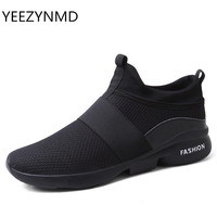 Men Shoes 2017 New Arrivals Fashion Mesh Breathable Comfortable Autumn Spring Male Casual Shoes Black Red