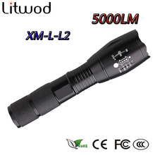 z10 CREE XM-L2 Flashlight 5000LM Adjustable Zoomable led Flashlight Lamp Light LED Tactical led Torch Lantern