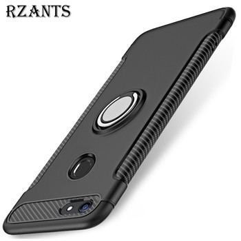 Rzants Phone Case For OPPO F7 Ring Holder Hard Back+Soft Edge Magnetic Adsorption Cover For OPPO F7 lukmall iphone case