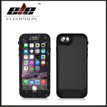 High Quality 3000mAh Waterproof Power bank case pack backup battery Charge case cover for iPhone 6 6s 7