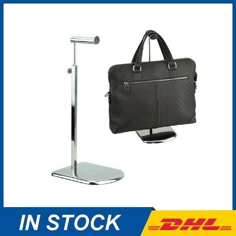 Fashion Metal Mirror Surface Bag Display Rack Handbag Display Stand Rack Free Shipping
