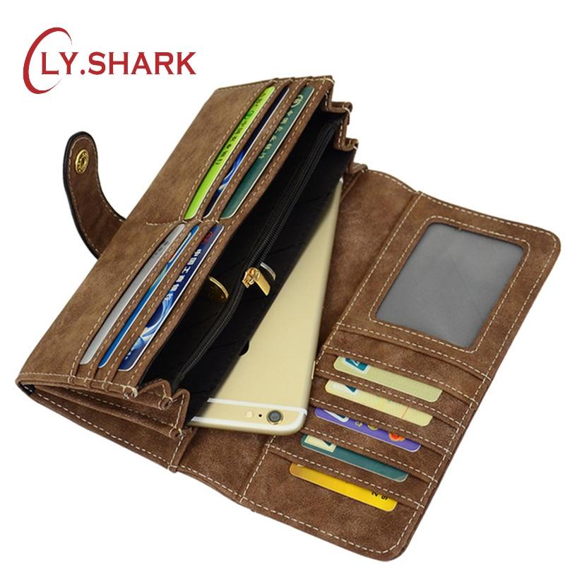 LY.SHARK bőr női pénztárca pénztárca női luxus márka híres kuplung pénz táska kártya érme telefon pénztárca hosszú fekete pénztárca