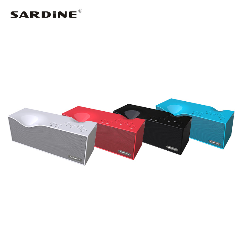Newest lightweight Sardine B1 portable Bluetooth speaker support handsfree calls support MP3 WMA WAV FLAC LED screen FM speaker 4 in 1 multifunction bluetooth v2 1 speaker handsfree calls led flashlight power bank black