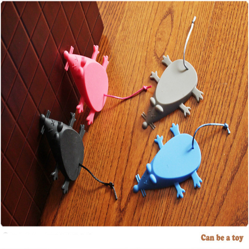 Baby Safety Door Stop Lock Silicone Mouse Shape Door Stopper Kids Door Guards Safe Protector Anti-pinch Hand 971169