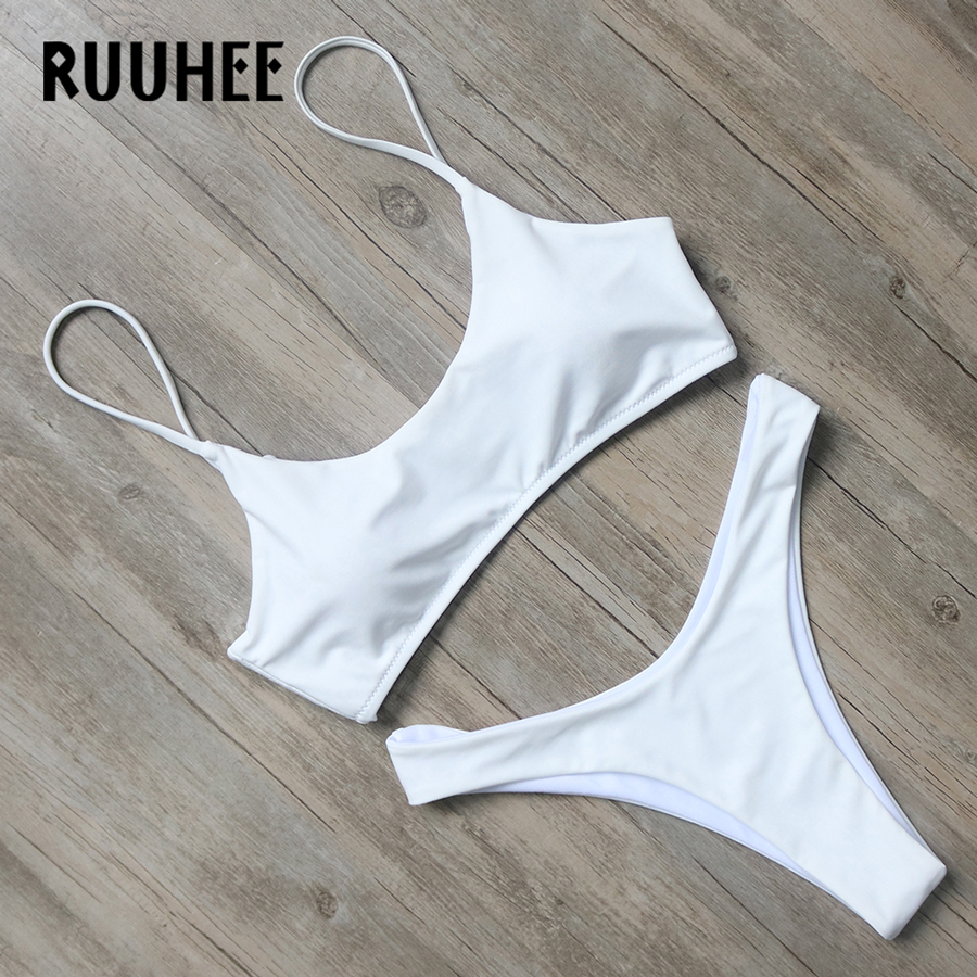 RUUHEE Bikini Swimwear Women 2017 Swimsuit Bathing Suit Brazilian Beachwear Push Up Bikini Set Maillot De Bain Biquini Swim Wear 2018 sexy brazilian bikini set swimwear white women swimsuit bathing suit cami palm leaf print biquini swim suit maillot de bain