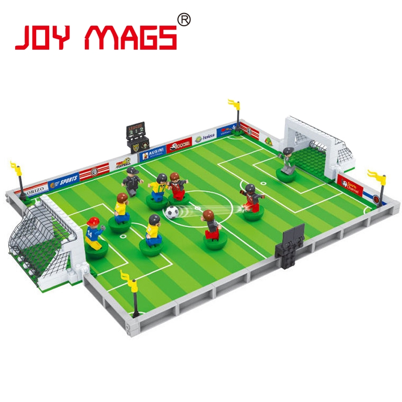 JOY MAGS World Cup Euro Football Game Ausini Sports Building Block Educational Toys for Kids Compatible with L Branded world cup in south africa world cup model european soccer cup trophy custom football fans articles
