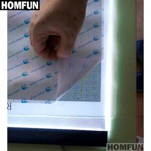 """Image 4 - HOMFUN Ultrathin 3.5 מ""""מ A4 LED אור לוח כרית להחיל כדי האיחוד האירופי/בריטניה/AU/ארה""""ב/USB תקע יהלומי רקמת יהלומי ציור צלב תפר"""