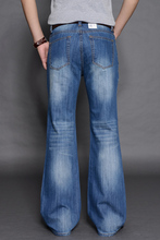 2016 Fashionable Casual Big Men Flare Pants denims Male Loose Denim Long Trousers Sexy Cool MB587 Z10