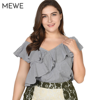 Fashion Woman Blouses 2018 Summer Plus Size Women Clothing 7xl 8xl Ruffle Sleeveless Feminina Blouse 3XL
