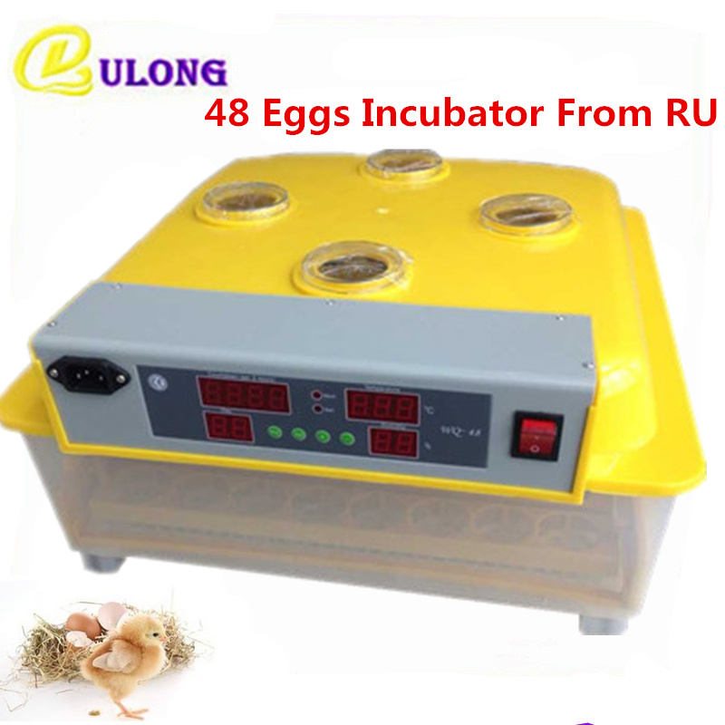 48 Eggs Incubator Mini Home Poultry Hatcher Automatic Digital Electric Hatchery Chicken Brooder From RU automatic digital egg incubator mini multifunctional hatcher electric hatching machine chicken brooder
