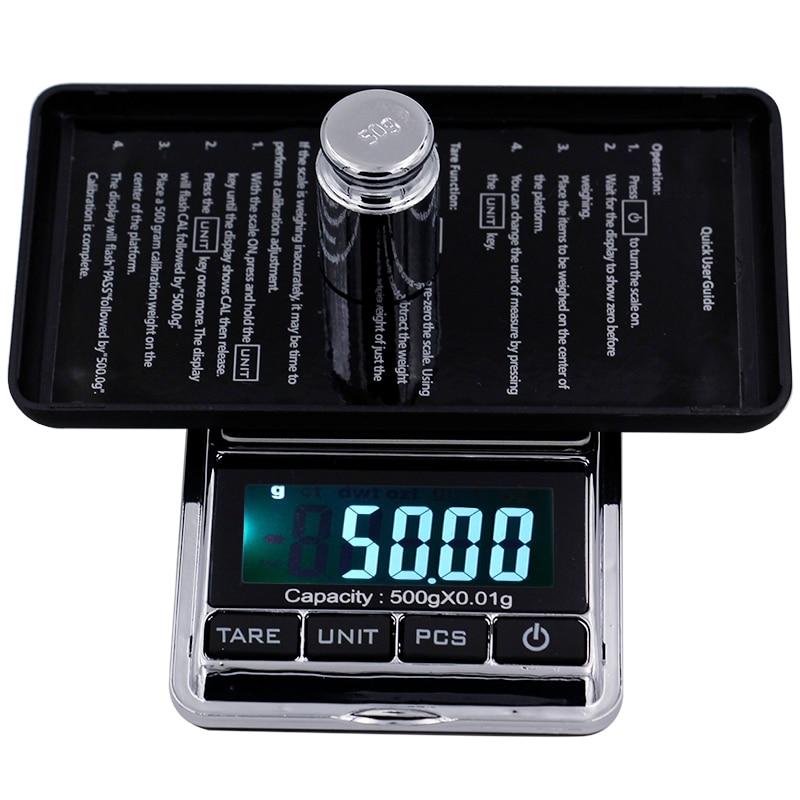 500g 0,01g Pocket digital Waagen Schmuck Digital display Gewicht Diomand Balance waagen LCD display Digitale skala 40% off