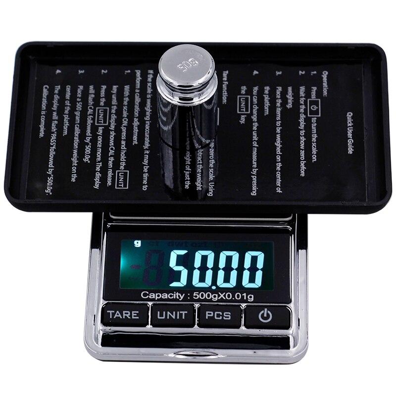 500g 0,01g digital de bolsillo escalas de la joyería Digital peso Diomand balanza pantalla LCD escala Digital 40%