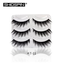 3 Pairs/lot Thick False Eyelashes Handmade Lashes Long Natural Eyebrow Extensions Kit Makeup Long Fake Eyelashes T11