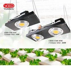 CREE CXB3590 100 W COB светодиодный свет для выращивания полного спектра samsung LM561C S6 Светодиодная лампа для внутреннего подсветка для рассады