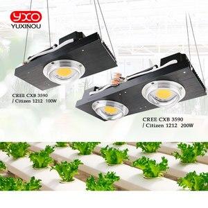 Image 1 - CREE CXB3590 100 W COB светодиодный свет для выращивания полного спектра samsung LM561C S6 Светодиодная лампа для внутреннего подсветка для рассады