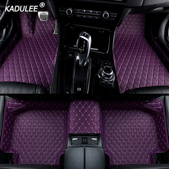 KADULEE Custom car floor Foot mat For bmw f10 x5 e70 e53 x4 f11 x3 e83 x1 f48 e90 x6 e71 f34 e70 e30 waterproof Auto accessories image