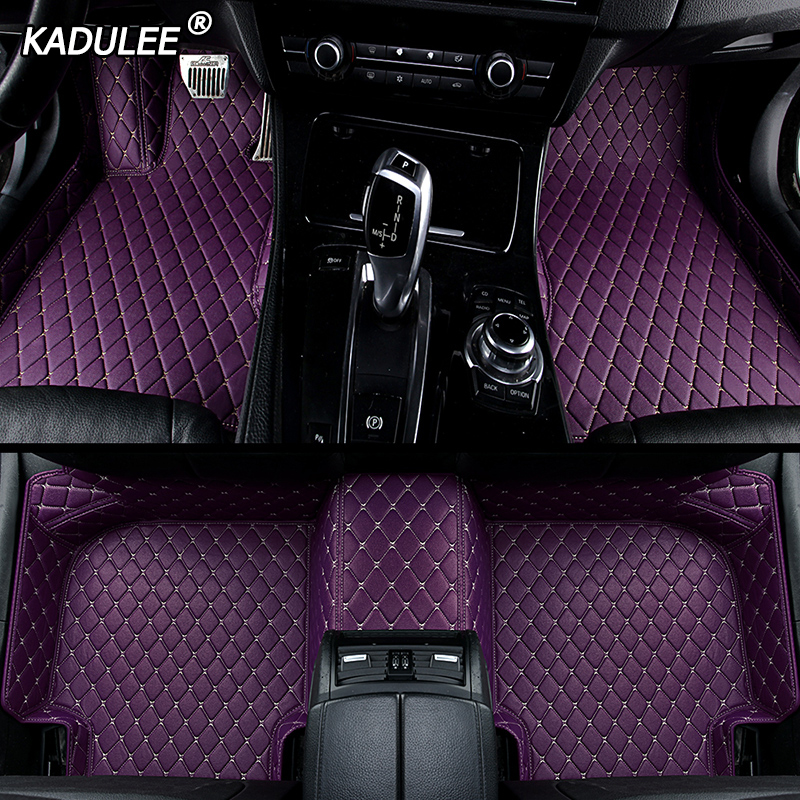 KADULEE Custom car <font><b>floor</b></font> Foot <font><b>mat</b></font> For <font><b>bmw</b></font> f10 x5 e70 e53 x4 f11 x3 e83 x1 f48 e90 x6 e71 f34 e70 <font><b>e30</b></font> waterproof Auto accessories image