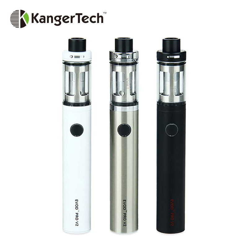 Original Kanger EVOD PRO V2 Starter Kit 2500mAh Battery 4ml Tank All-in-One E-Cigarette Vaporizer Adjustable Airflow Top Filling