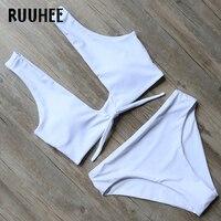 RUUHEE New Bikini Swimwear Women Swimsuit Bathing Suit Bikini Set 2017 High Cut Moderate Coverage Sexy