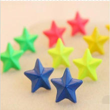 E036 new Cute candy fluorescent color POP pentagram earrings jewelry wholesale(China)