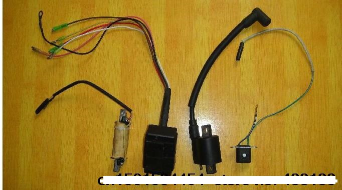 Frete grátis HangKai 2-strok 5-6 HP e motor de popa/motor de popa motores/motores de barco/bobina de ignição de ignição sistema