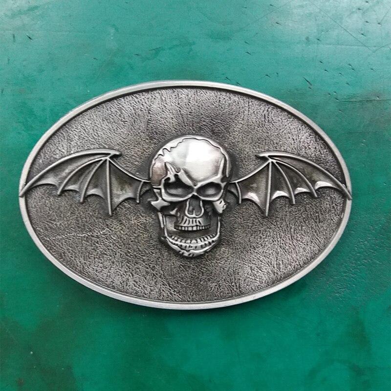 1 piezas murciélago cráneo música Rock vaquera CowBoy hebilla de cinturón adecuado para 4 cm Wideth cinturón