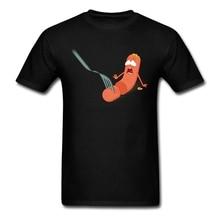 Male Men's Geek Panic Sausage Tees Shirt Custom Short Sleeve Shirts For Men