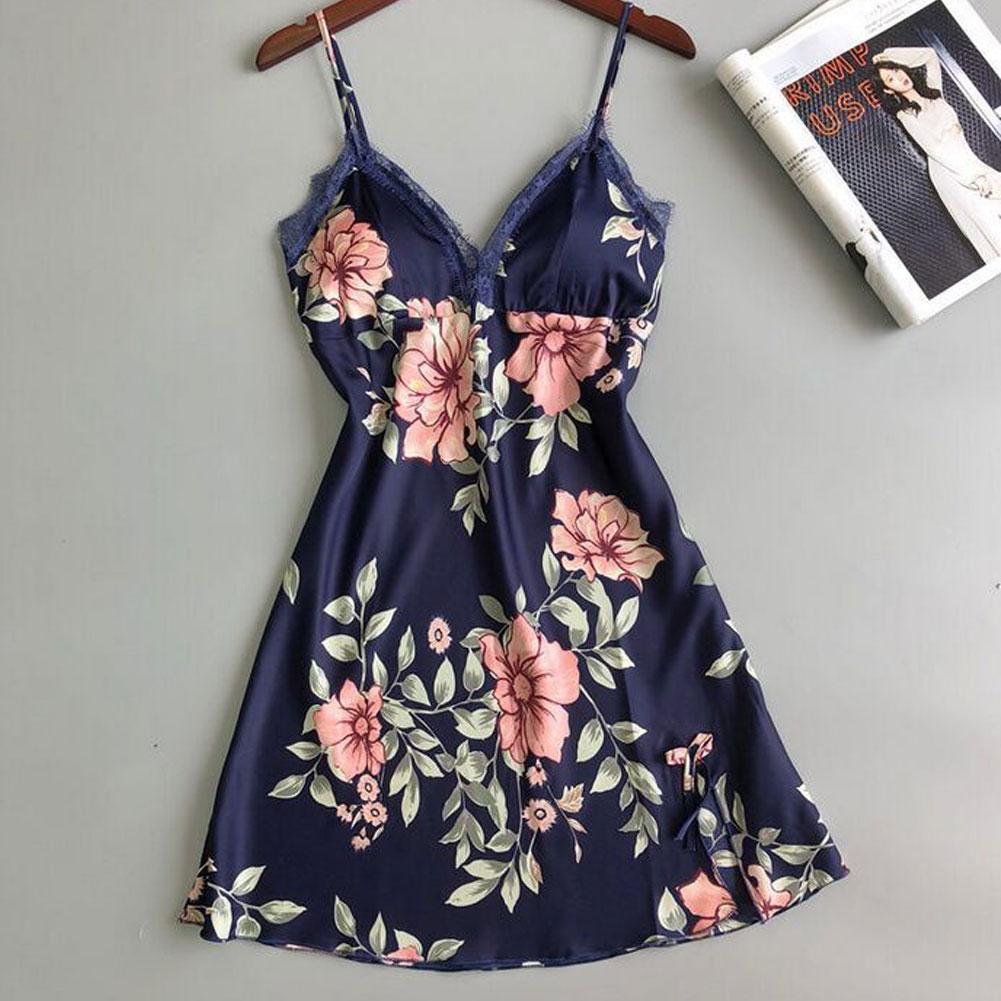 Women Sexy-Lingerie Nightwear Sleepwear Babydoll Lace Underwear Spaghetti Strap Deep V-Neck Sexy Girls Robes Summer