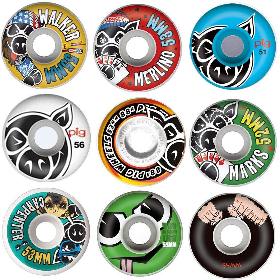 EUA Marca 4PCS Skate Rodas 51/52/53/54/55/56mm Roda do Patim hot Sale 101A PU Rodas para Skate Acessórios Do Caminhão