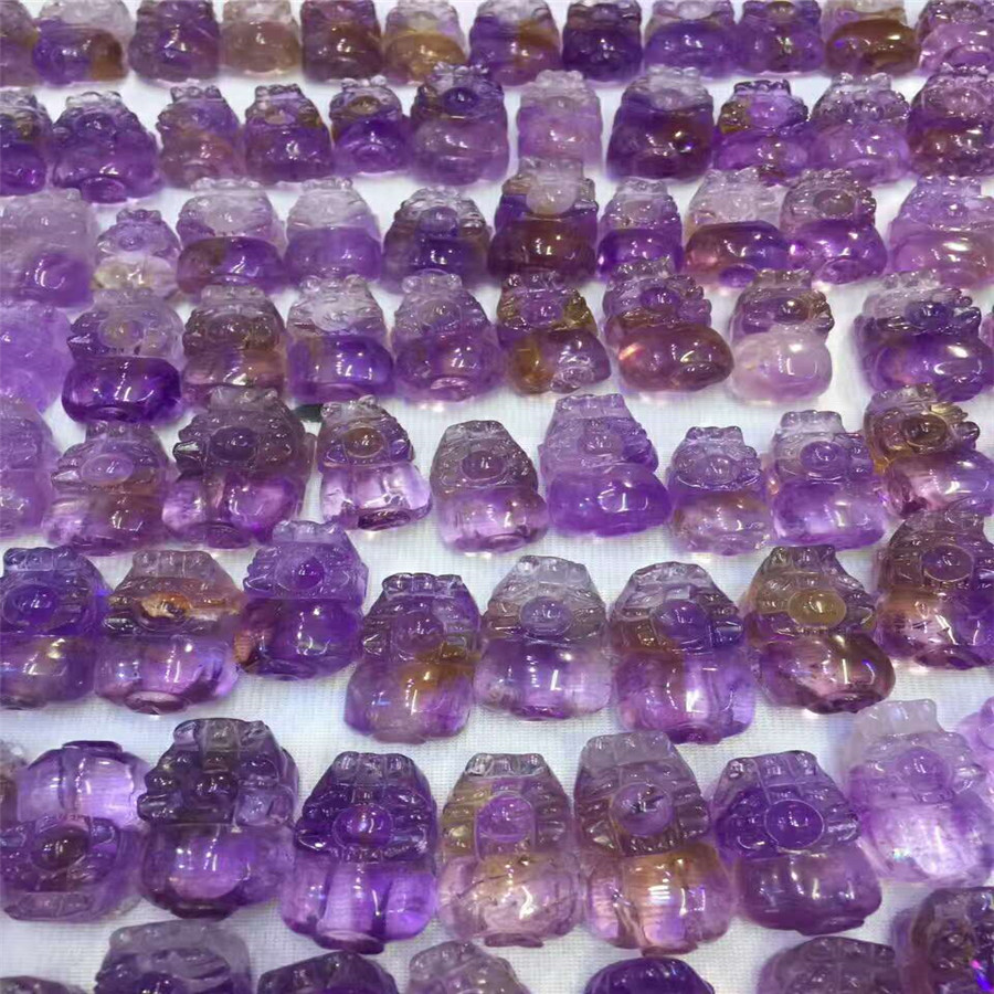 Wholesale Genuine Natural Purple Crystal Wealthy Crystal Pi Xiu Nice Pendant AAAA For Jewelry Making Pi Xiu Crystal DecorationWholesale Genuine Natural Purple Crystal Wealthy Crystal Pi Xiu Nice Pendant AAAA For Jewelry Making Pi Xiu Crystal Decoration